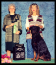 Cooper's new AKC Companion Dog (CD) title achieved at Grand Rapids K.C. in Kalamazoo, Michigan from the Novice B class, owner-handled by Pat Baker