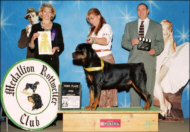 """""""Braeden"""" at MRC '03 taking 3rd place in open, handled by Pat Turner"""
