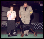 Best of Opposite Sex, Best of Winners, 1st Place 6-9 month puppy dog at Berrien K.C. on Aug. 5, 2000, handled by Rodger Freeman
