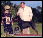 2nd in Puppy Group at Pontiac K.C. on Aug. 19, 2000, handled by Rodger Freeman