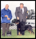 Best of Breed as a special at the Battle Creek K.C. on May 24, 2004, handler Rodger Freeman