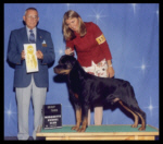 3rd in Working Group & Best of Breed as a special at the Marquette K.C. on Aug. 29, 2004, handler Norma Smith