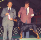Reesey & Rodger Freeman, at the Marquette K.C., taking Winners & Best of Opposite Sex, on 9-4-94