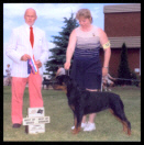 Tory in Canada at the Sarnia K.C. taking another Best of Breed in July 2003, handled by Ms. Pat Turner